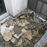 Balkon Boden Abriss