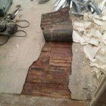 Abbruch von Linoleum / PVC